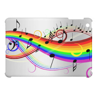 Abstract musical note's and rainbow colors. case for the iPad mini