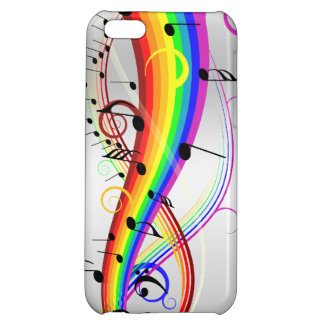Abstract musical note's and rainbow colors. iPhone 5C cases