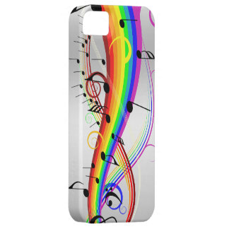 Abstract musical note's and rainbow colors. iPhone SE/5/5s case