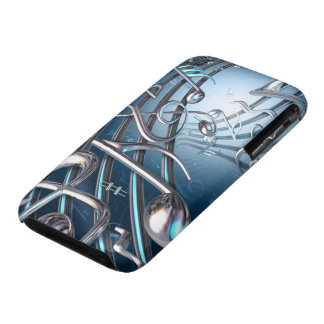 Abstract Musical Notes iPhone 3 Cases