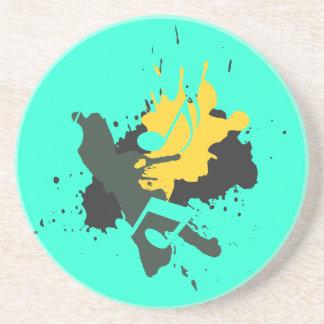 Abstract Musical Notes Coaster