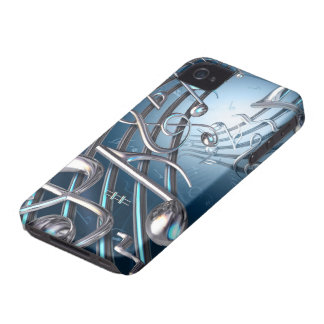 Abstract Musical Notes iPhone 4 Case