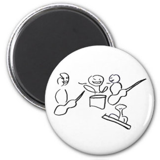 Abstract musician figures done in black fridge magnet