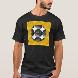 Abstract Mustard Yellow and Grey T-Shirt