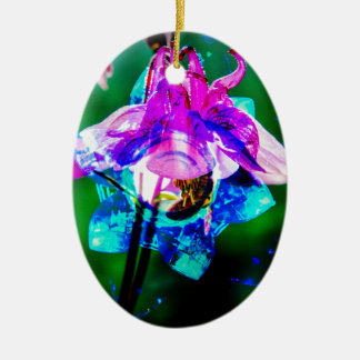 Abstract nature Akeley Ceramic Ornament