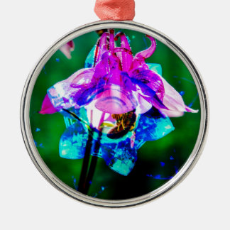 Abstract nature Akeley Metal Ornament