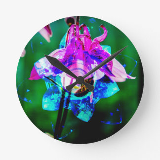 Abstract nature Akeley Round Clock