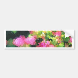 abstract nature bee flowers garden pink bumper sticker