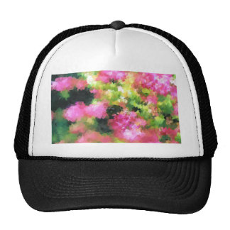 abstract nature bee flowers garden pink cap