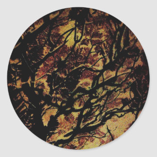 Abstract nature classic round sticker