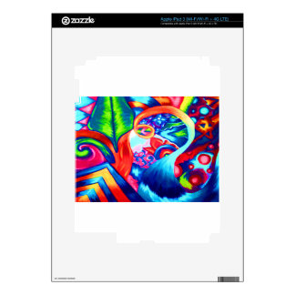 Abstract nature collage painting decal for iPad 3