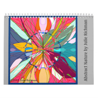Abstract Nature Drawings Calendar