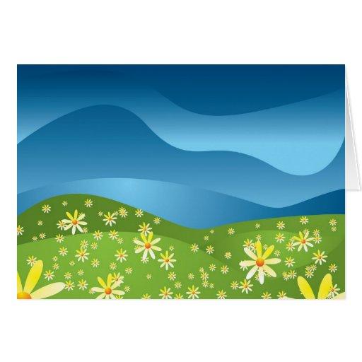 Abstract nature greeting card