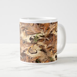 Abstract Nature Photograph Autumn Leaves Textured Giant Coffee Mug