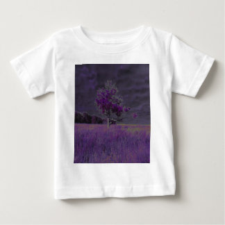 Abstract Nature Purple and Lavender Tree & Flowers Baby T-Shirt