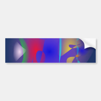Abstract Navy and Purple Bumper Sticker