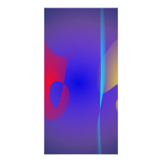 Abstract Navy and Purple Card