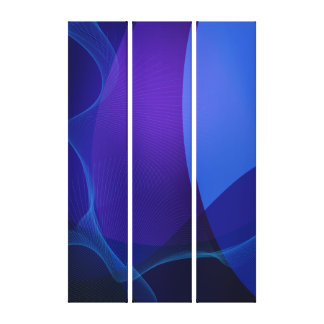 Abstract Navy Blue and Purple Pattern Canvas Print