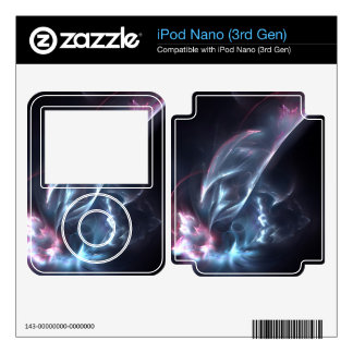 Abstract Nebula Blue and Purple Decals For The iPod Nano