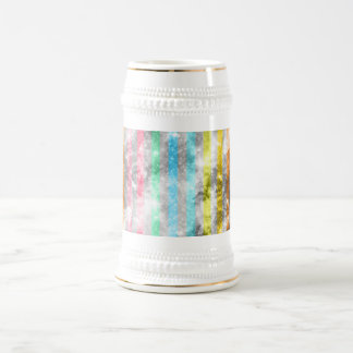 Abstract Nebula MultiColors Stripes Pattern Beer Stein