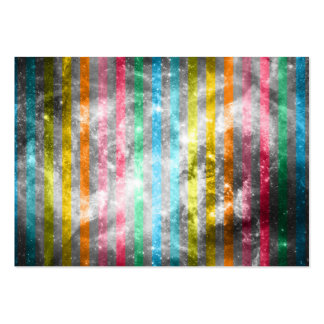 Abstract Nebula MultiColors Stripes Pattern Large Business Card