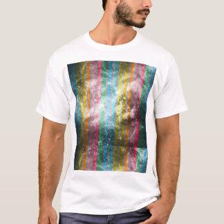 Abstract Nebula MultiColors Stripes Pattern T-Shirt