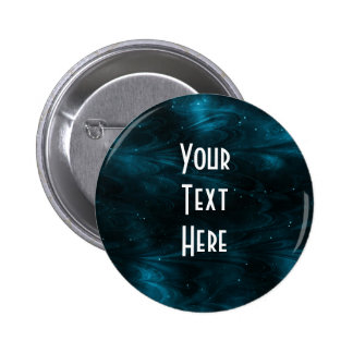 Abstract Nebula Texture - Blue 2 Inch Round Button