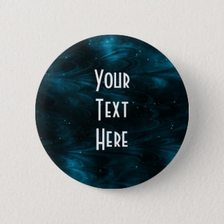 Abstract Nebula Texture - Blue Pinback Button