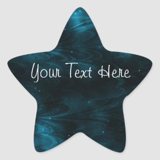 Abstract Nebula Texture - Blue Star Sticker