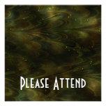 Abstract Nebula Texture - Yellow Invitations