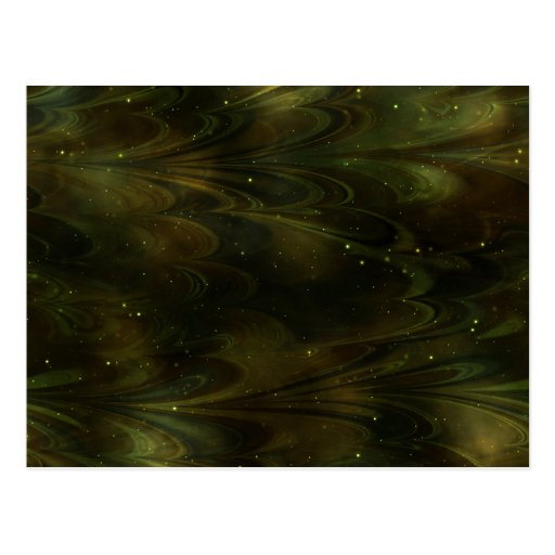 Abstract Nebula Texture - Yellow Post Cards