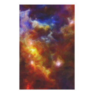 Abstract Nebulla with Galactic Cosmic Cloud 37 Stationery