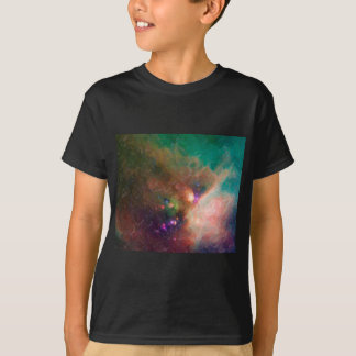 Abstract Nebulla with Galactic Cosmic Cloud 44 med T-Shirt