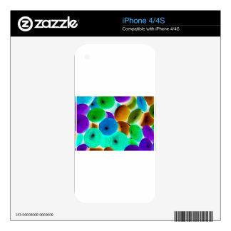 Abstract Negative Art Decal For iPhone 4
