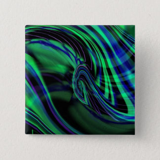 Abstract Neon Aqua N Blue Waves Button