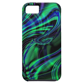 Abstract Neon Aqua N Blue Waves iPhone 5 Case