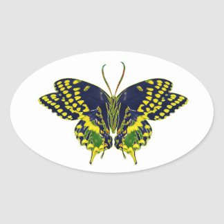 Abstract Neon Butterfly Stickers