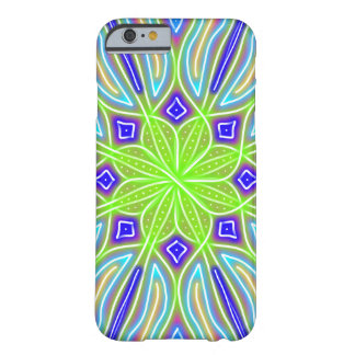 Abstract Neon Green Flower Barely There iPhone 6 Case