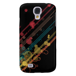 Abstract Neon Lights and Circles Galaxy S4 Case