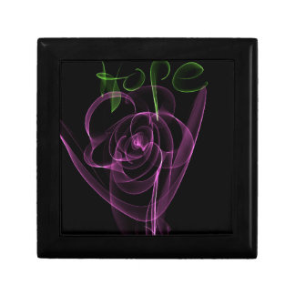 """Abstract Neon Pink Rose Green  """"Hope"""" Gift Box"""