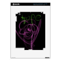 "Abstract Neon Pink Rose Green  ""Hope"" iPad 3 Skin"