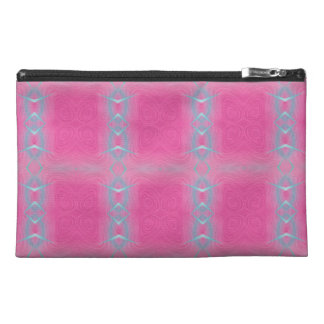 Abstract neon pink teal geometrical pattern. travel accessories bag