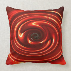 Abstract Neon Red Decorative Accent Throw Pillow