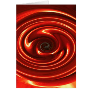 Abstract Neon Red Spinning Circles Greeting Cards