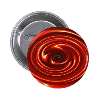 Abstract Neon Red Spinning Circles Pinback Button