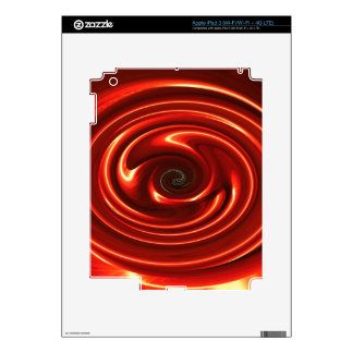 Abstract Neon Red Spinning Circles iPad 3 Skin