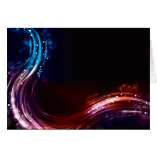 Abstract neon spectrum light effect greeting card