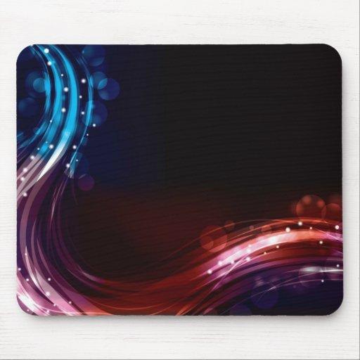 Abstract neon spectrum light effect mousepads