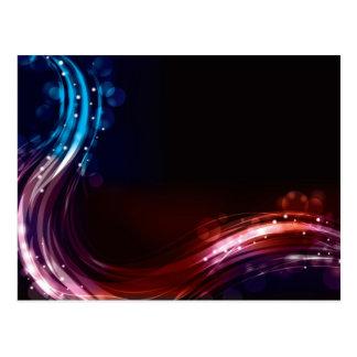 Abstract neon spectrum light effect postcard