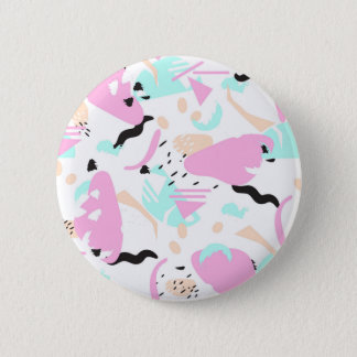 Abstract neon splash colors pinback button